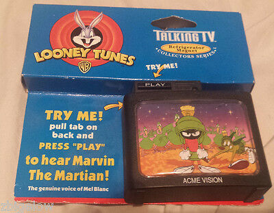 """Acme Looney Tunes Talking TV Refrigerator Magnet """"Marvin the Martian"""" NOT WORKIN"""