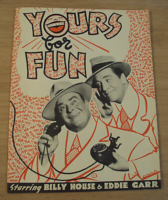 "VTG WWII Era 1943 'LAFF Variety REVIEW' Program~""YOURS FOR FUN""~Hollywood CA~"