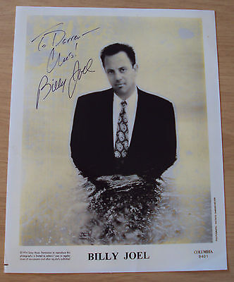 "1994 Sony Music AUTOGRAPHED Photo~""BILLY JOEL""~"
