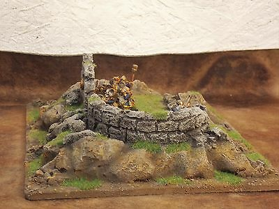 warhammer,  Lord of  the Rings, etc terrain scenery ruined castle / ruin