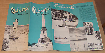 "VTG ca 1940's TRAVEL Brochure~""MISSISSIPPI for RELAXATION""~Very NICE~"