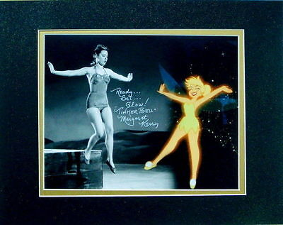 Disney Tinker Bell Composite Photo w/Glittered Mat Autographed  Margaret Kerry