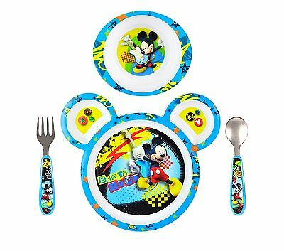 The First Years Mickey Mouse 4 Piece Feeding Set Baby Toddler Kids New  Gift