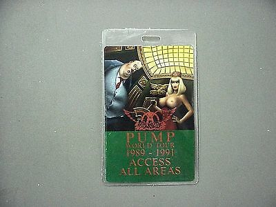 Aerosmith backstage pass Laminated Authentic PUMP 1989-1991 Access All Areas