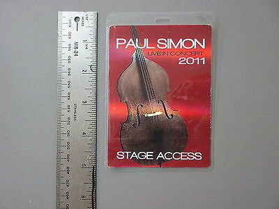 Paul Simon backstage pass Otto Laminated 2011 printed on Beautiful FOIL PAPER  !