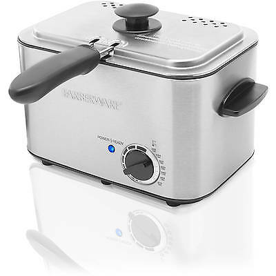 Farberware Electric Oil  Deep Fryer 1.1L With Basket Home Stainless Steel NEW