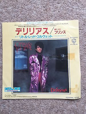 """Prince  'Delirious' 1983 2 Track Limited edition JAPAN only 7"""" white label promo"""