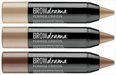 Maybelline BROW DRAMA POMADE CRAYON Eyebrow Chubby Stick Pencil Pen NEW IN!