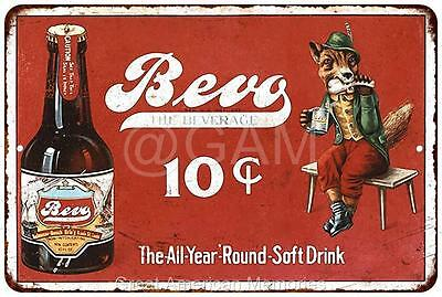 Bevo The Beverage 10? Vintage Look Reproduction Metal Sign 8x12 8121935