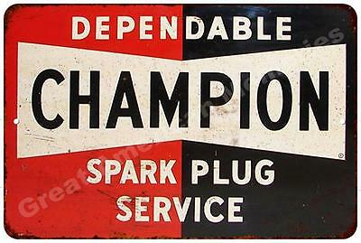 Champion Spark Plug Service Vintage Look Reproduction Metal Sign 8x12 8122220