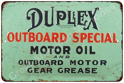 Duplex Outboard Special Motor Oil Vintage Reproduction Metal Sign 8x12 8122280
