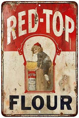 Red Top Flour Vintage Look Reproduction Metal Sign 8 x 12 8120428