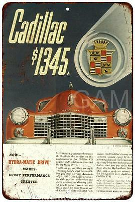 1941 Cadillac Vintage Look Reproduction 8x12 Metal Sign 8120591