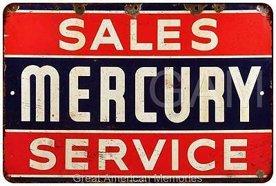 Mercury Sales and Service Vintage Look Reproduction 8x12 Metal Sign 8121291