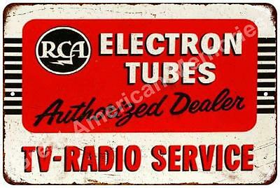 RCA Electron Tubes TV Radio Service Vintage Reproduction Sign 8x12 8122265