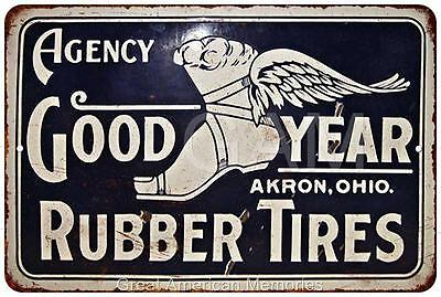 Good Year Rubber Tires Vintage Look Reproduction 8x12 Metal Sign 8121261