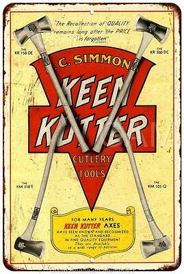 1930 Keen Kutter Axes Vintage Look Reproduction 8x12 Metal Sign 8121815