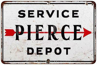 Pierce Service Depot Vintage Look Reproduction 8x12 Metal Sign 8121419