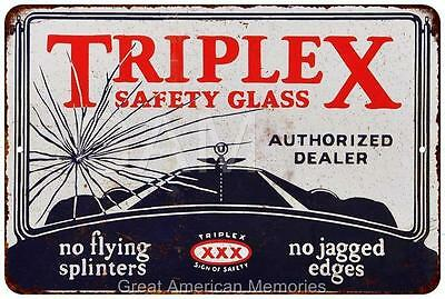 Triplex Safety Glass Vintage Look Reproduction 8x12 Metal Sign 8121420