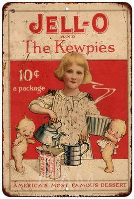 Jell-O and The Kewpies Vintage Look Reproduction 8 x 12 Metal Sign 8120508
