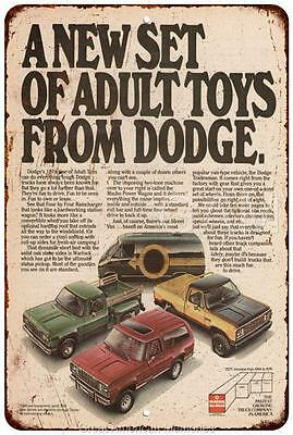 1978 Dodge Truck Toys Vintage Look Reproduction 8x12 Metal Sign 8120594