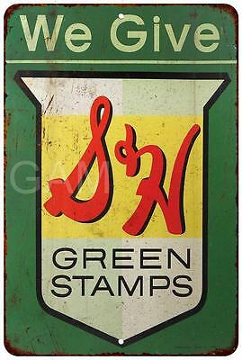 We Give S&H Green Stamps Vintage Look Reproduction Metal Sign 8 x 12 8120103