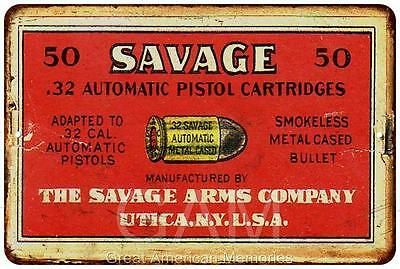 The Savage Arms Co. Vintage Look Reproduction 8x12 Metal Sign 8121218