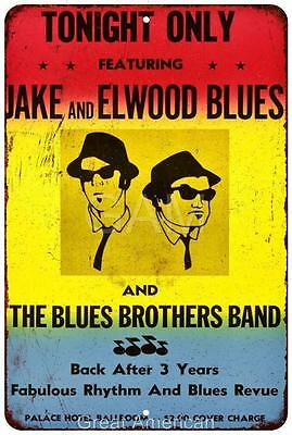 The Blues Brothers Gig Poster Vintage Look Reproduction Sign 8 x 12 8120107