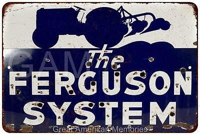 The Ferguson System Vintage Look Reproduction Metal Sign 8 x 12 8120313