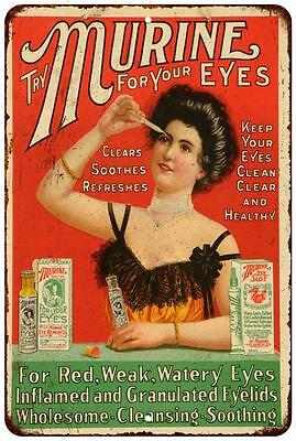 Murine for Your Eyes Vintage Look Reproduction Metal Sign 8 x 12 8120224
