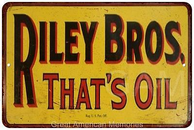 Riley Bros. Oil Vintage Look Reproduction Metal Sign 8 x 12 8120355