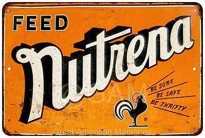 Nutrena Feed Vintage Look Reproduction Metal Sign 8x12 8121982
