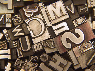 Mixed Metal Type #27 - Letterpress Type from the 50's era