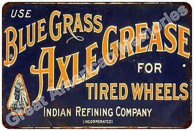 Blue Grass Axle Grease Vintage Reproduction Metal Sign 8x12 8122870