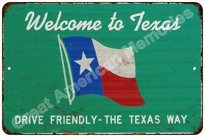 Welcome to Texas Vintage Look Reproduction Metal Sign 8x12 8122895
