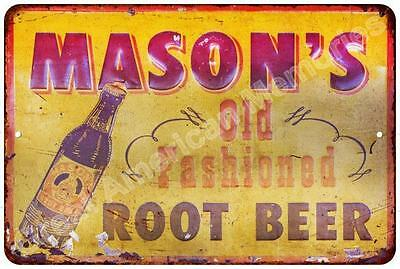 Mason's Old Fashioned Root Beer Vintage Reproduction Metal Sign 8x12 8122699