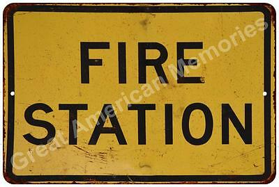 Fire Station Vintage Reproduction Metal Sign 8x12 8122577