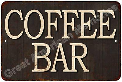 Coffee Bar Vintage Reproduction Metal Sign 8x12 8122566
