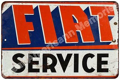 FIAT Service Vintage Look Reproduction Metal Sign 8x12 8123205