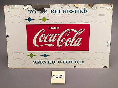 1959 Vintage To Be Refreshed Serve w Ice Enjoy Coca Cola Coke Metal sign CC29