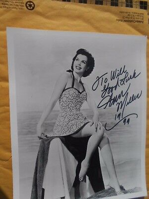 ANN MILLER -AUTOGRAPHED PHOTO 8 x 10 & ADDED GOOD LUCK