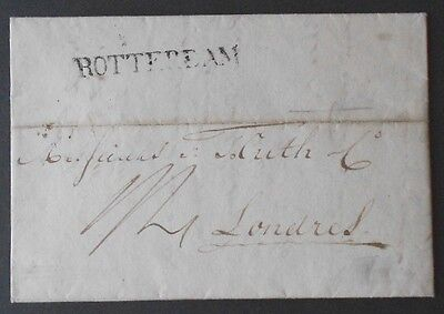Netherlands - pre stamp letter to London 1824 - Rotterdam