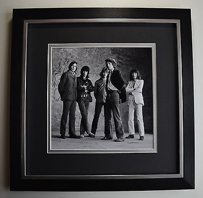Charlie Watts SIGNED Framed LARGE Square Photo Autograph display Rolling Stones