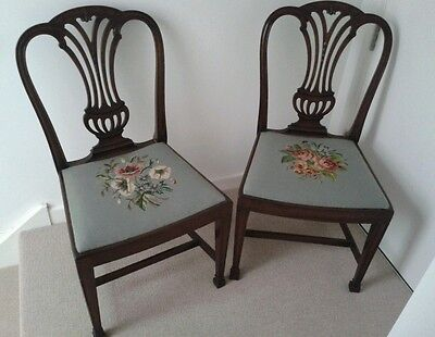 Quality Pair Of Edwardian Mahogany Dining  Occasional Chairs