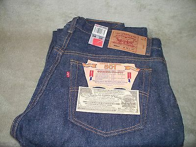 Vintage Levis 501 xx W38L36 NWT San Fran.  Shrink to fit. made in USA