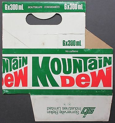 Mountain Dew Cardboard Bottle Carrier Carton