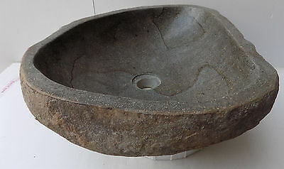 Hand-crafted basin made of natural river stone Sink DP1057 cm 47x41x15