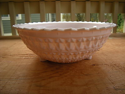 Mid Century Jeannette Holiday Footed Shell Pink Milk Glass  Bowl