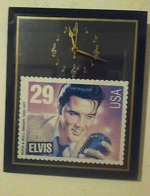 Elvis stamp picture Clock wall hanging