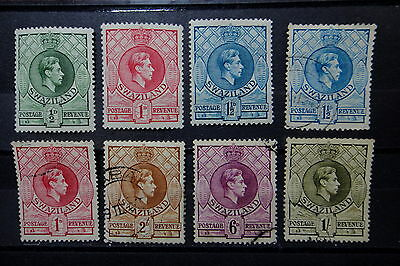 SWAZILAND 1938 stamps Lot with 1/  - Used / Mint MH  - Very Fine - r32b1576